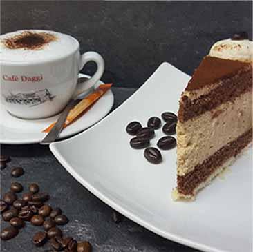 Café Daggi Kuchen und Torten Hintergrund